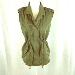 Forever 21 Army green military vest